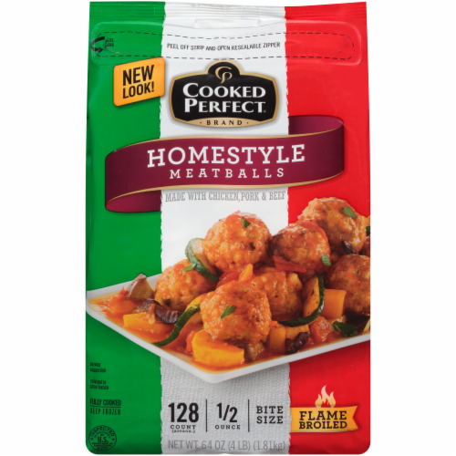 Cooked Perfect Homestyle Meatballs Perspective: front
