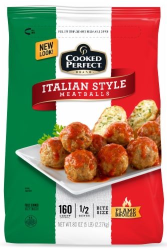 Cooked Perfect Italian Style Meatballs Perspective: front