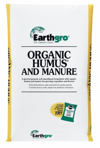 Earthgro Organic Garden Humus and Manure 1 cu. ft. - Case Of: 1; Perspective: front
