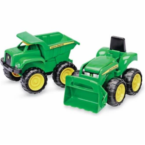 John Deere 35874 Dump Truck & Tractor, 2 Pack Perspective: front