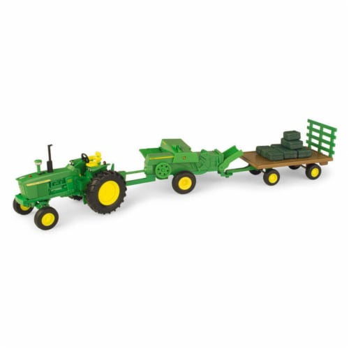 TOMY International 251874 John Deere 1-32 Scale Die Cast Haying Set Perspective: front