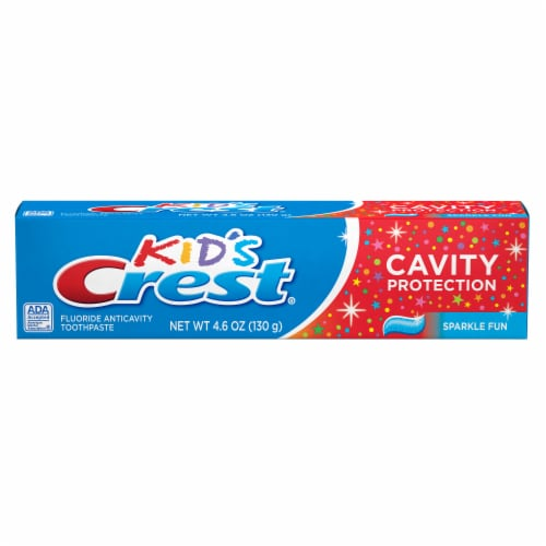 Crest Kids Cavity Protection Toothpaste Sparkle Fun Flavor Perspective: front
