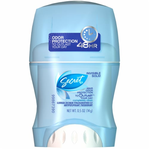 Secret Outlast Completely Clean Invisible Solid Antiperspirant & Deodorant Stick Perspective: front