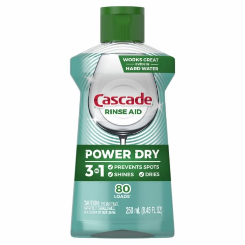 Cascade Platinum Dishwashing Rinse Aid Perspective: front