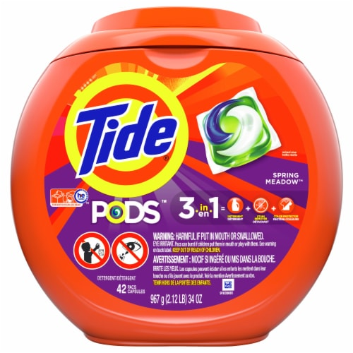 Tide® Pods™ Spring Meadow Laundry Detergent Pacs Perspective: front