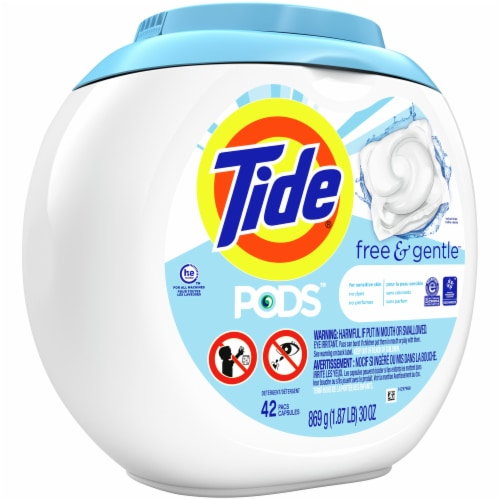 Tide PODS Free & Gentle Laundry Detergent Pacs Perspective: front