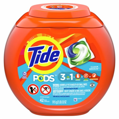 Tide Pods Clean Breeze Laundry Detergent Pacs Perspective: front