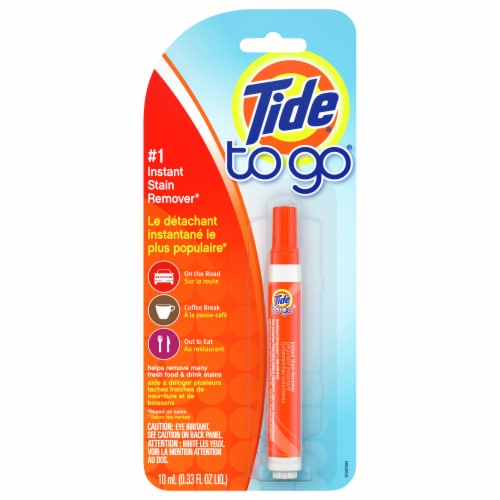 Tide To Go Instant Stain Remover Laundry Pen Perspective: front