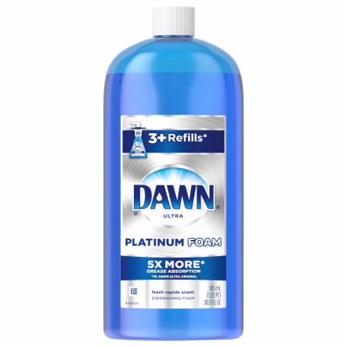 Dawn Platinum Fresh Rapids Dishwashing Foam Refill Perspective: front