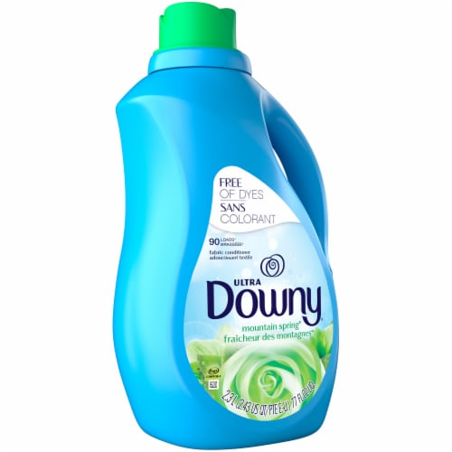 Downy Ultra Mountain Spring Liquid Fabric Softener Perspective: front