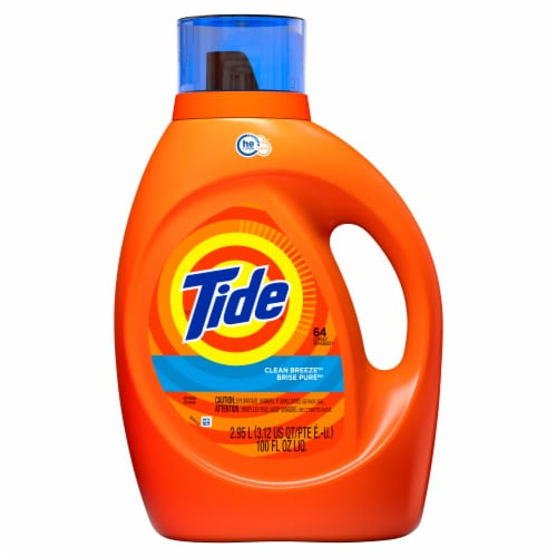 Tide Clean Breeze Scent Liquid Laundry Detergent Perspective: front