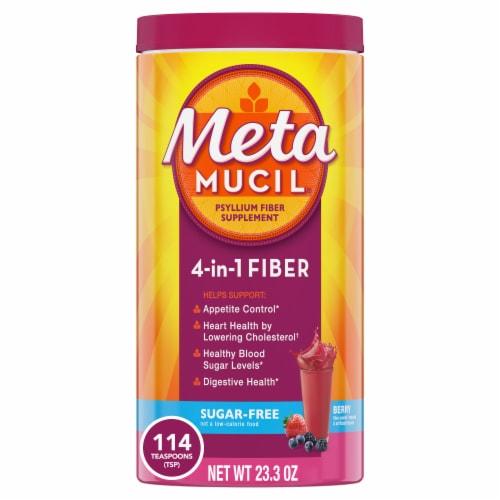 Metamucil Sugar-Free Berry Flavor Daily Fiber Supplement Powder Perspective: front
