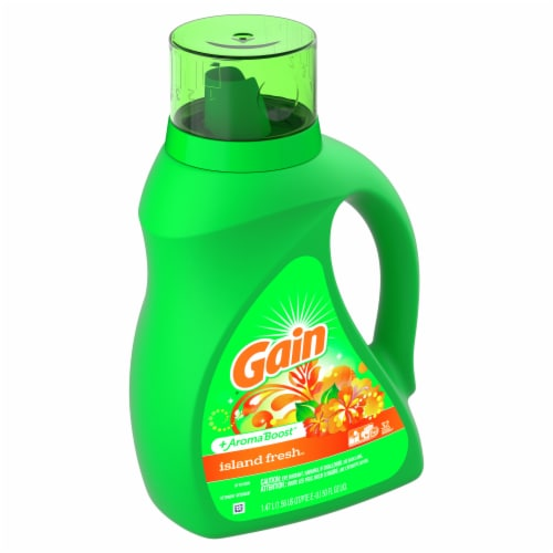 Gain Island Fresh + Aroma Boost Liquid Laundry Detergent Perspective: front