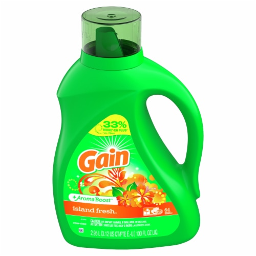 Gain Island Fresh + AromaBoost Liquid Laundry Detergent Perspective: front