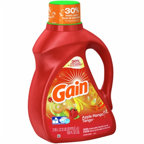 Gain Apple Mango Tango Liquid Laundry Detergent Perspective: front