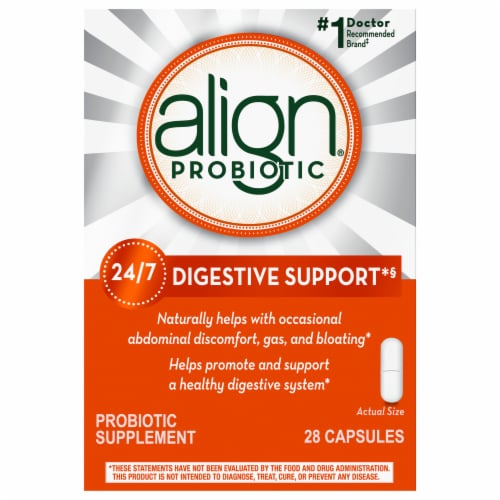 Align Probiotic Supplement Capsules Perspective: front