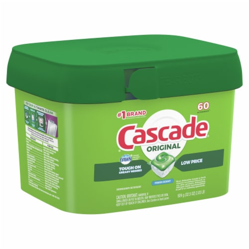 Cascade Dishwasher Detergent ActionPacs Fresh Scent Perspective: front