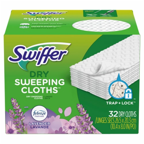Swiffer Lavender Scented Dry Sweeping Cloth Refills Perspective: front