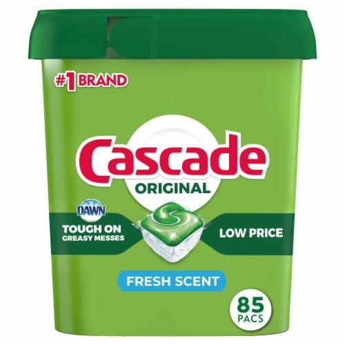 Cascade Dishwasher Detergent ActionPacs Fresh Scent Perspective: front