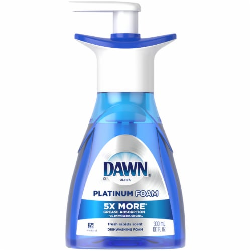 Dawn Ultra Platinum Fresh Rapids Scent Erasing Dish Foam Pump Perspective: front