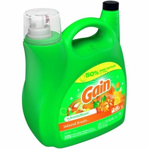 Gain Aroma Boost Island Fresh Liquid Laundry Detergent Perspective: front