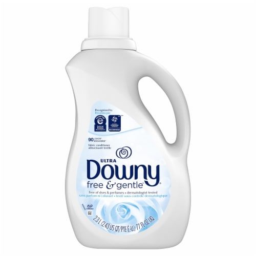Downy Ultra Free and Gentle Liquid Fabric Conditioner Perspective: front