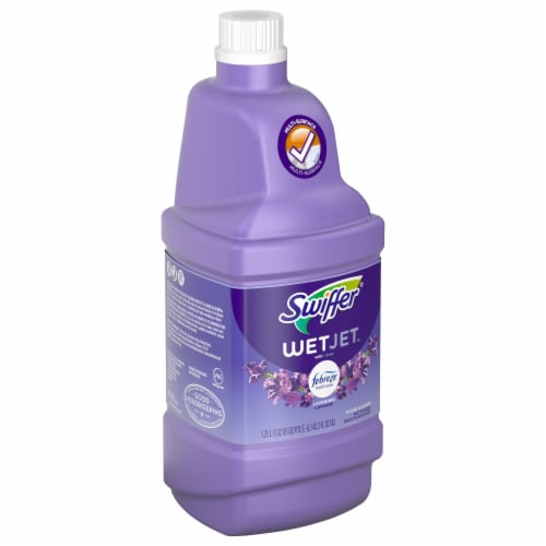 Swiffer Wet Jet with Febreze Freshness Lavender Floor Cleaner Perspective: front