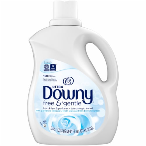 Downy Ultra Free & Gentle Liquid Fabric Conditioner Perspective: front
