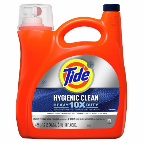 Tide Hygienic Clean 10X Heavy Duty Original Liquid Laundry Detergent Perspective: front