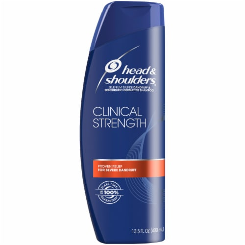 Head & Shoulders Clinical Strength Dandruff Shampoo Perspective: front