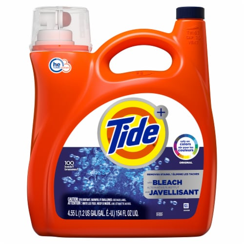 Tide Plus Bleach Alternative HE Turbo Clean Liquid Laundry Detergent Perspective: front