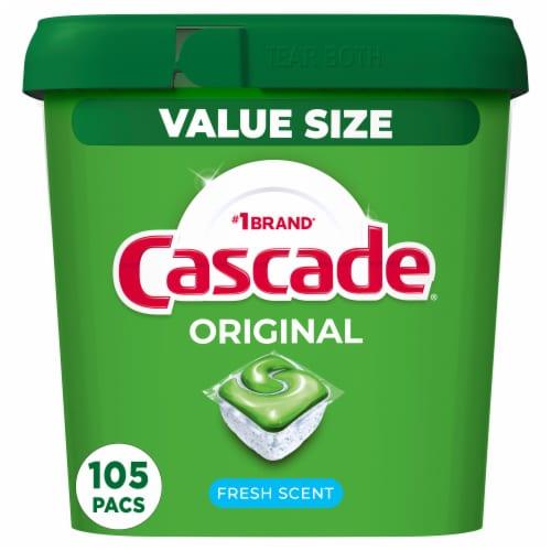 Cascade® Original Fresh Scent Dishwasher Detergent Actionpacs Perspective: front