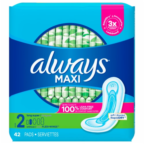 Always Maxi Long Super Size 2 Pads Perspective: front