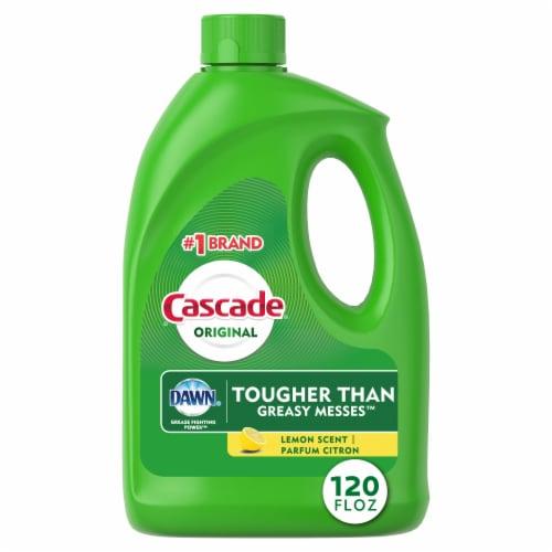 Cascade Lemon Scent Gel Diswasher Detergent Perspective: front