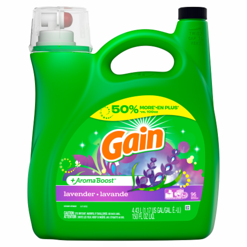 Gain Aroma Boost Lavender Liquid Laundry Detergent Perspective: front