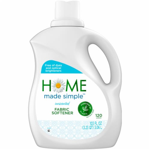 Home Made Simple Unscented Fabric Softener Perspective: front
