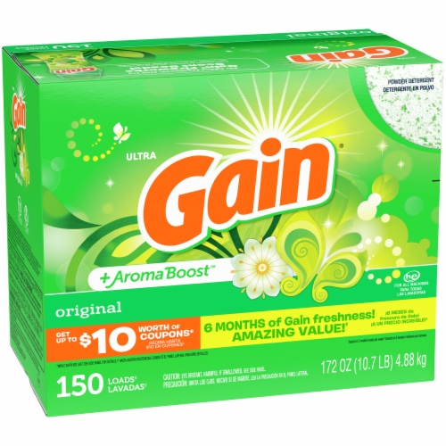 Gain Ultra Original + Aroma Boost Powder Laundry Detergent Perspective: front