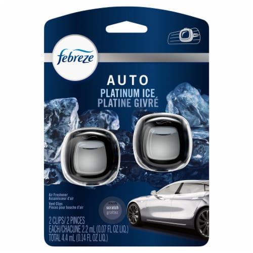 Febreze Platinum Ice Car Air Freshener Vent Clip Perspective: front