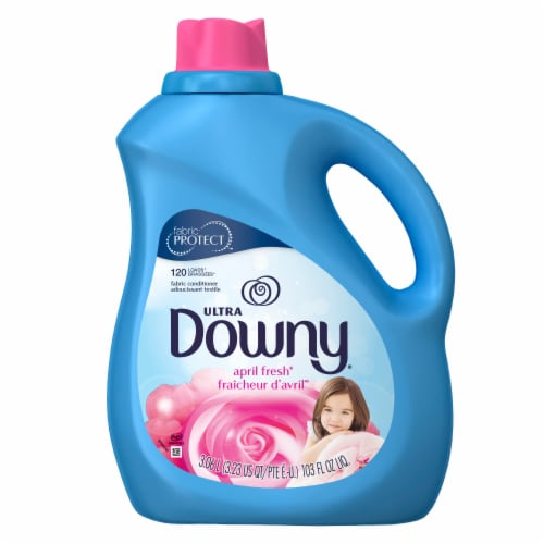 Downy Ultra April Fresh Liquid Fabric Softener Perspective: front