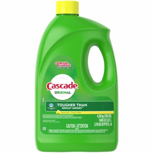 Cascade Gel Lemon Scent Dishwasher Detergent Perspective: front