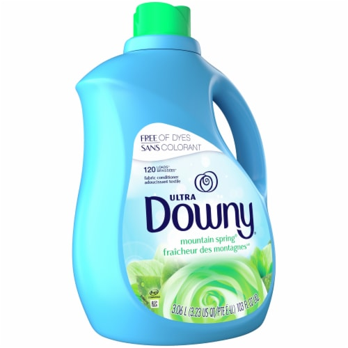 Downy® Ultra Mountain Spring Liquid Fabric Softener Perspective: front