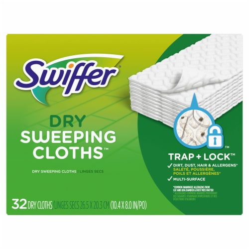 Swiffer Unscented Dry Sweeping Cloths Refills Perspective: front
