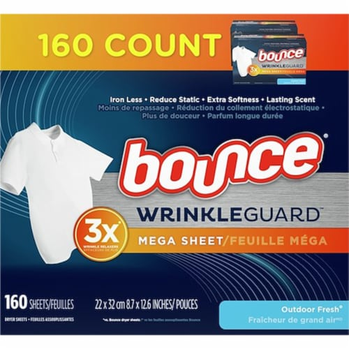 Bounce® Outdoor Fresh Wrinkle Guard Dryer Sheets Perspective: front