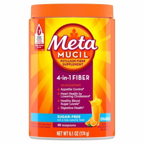 Metamucil Sugar-Free Orange Flavor Daily Fiber Supplement Powder Perspective: front