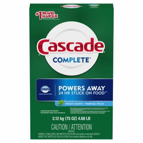 Cascade Complete Dawn Fresh Scent Dishwasher Detergent Perspective: front