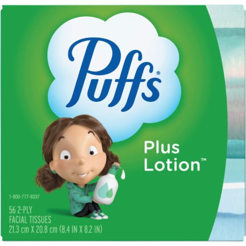 Puffs 56 count Facial Tissue - Case Of: 1; Perspective: front