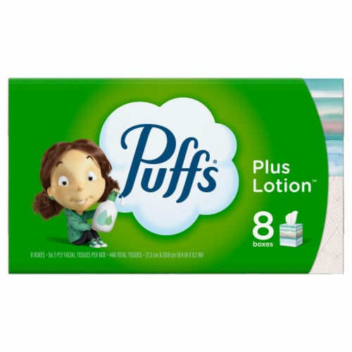 Puffs Plus Lotion Facial Tissues Perspective: front