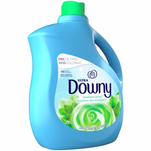 Downy Ultra Mountain Spring Liquid Fabric Conditioner Perspective: front