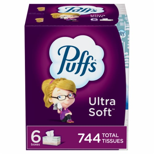 Puffs Ultra Soft Non-Lotion Facial Tissue Perspective: front