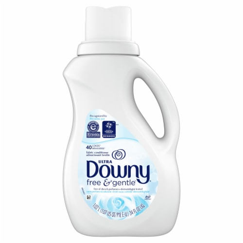Downy Ultra Free & Gentle Fabric Softener Perspective: front